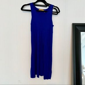 Alice + Olivia Blue Babydoll Dress